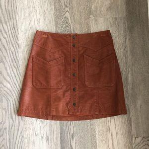 Free People suede skirt